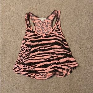 Forever 21 pink leopard tank top